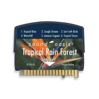 Sound Oasis Sleep Sound Therapy System S550 Tropical Rain Forest Sound Card