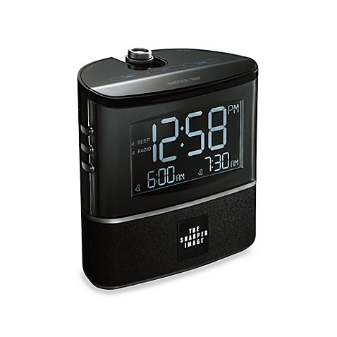 The Sharper Image® Projection Alarm Clock with AM/FM Radio
