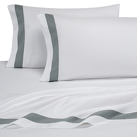Colorblock Eucalyptus Sheet Set by Ampersand™, 100% Cotton, 420 Thread Count