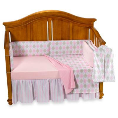 Little House by Annette Tatum™ 5-Piece Crib Bedding Set in Argyle Pink