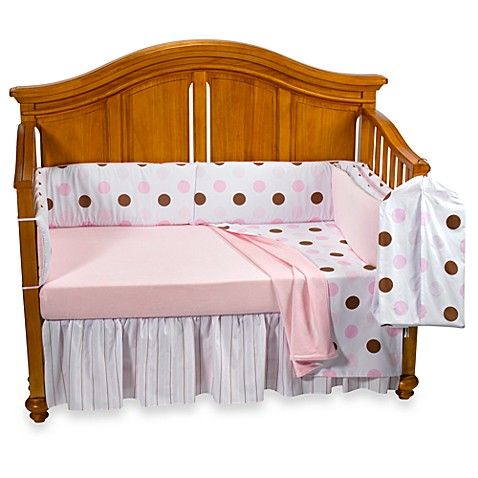 Little House by Annette Tatum™ Neopolitan Chocolate/Pink 5-Piece Crib Bedding and Accessories