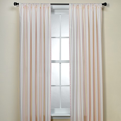 Royal Stripe Rose 84-Inch Window Panel Pair