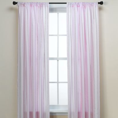 Circus Stripe Pink 84-Inch Window Panel Pair