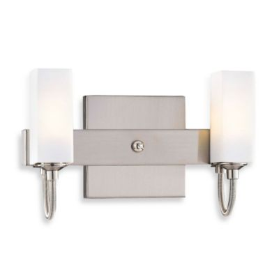 George Kovacs Cased Etched Opal Glass Double Sconce
