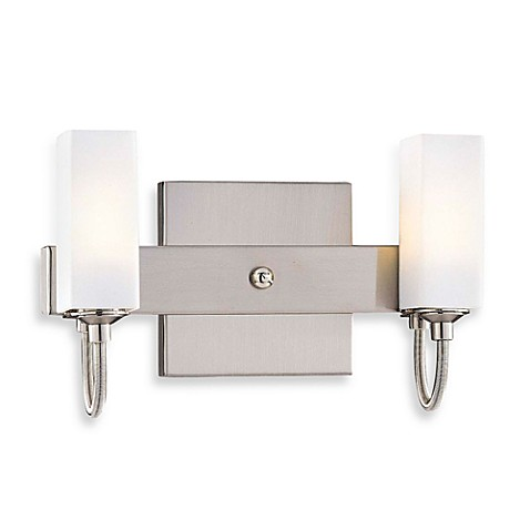 George Kovacs® Cased Etched Opal Glass Double Sconce