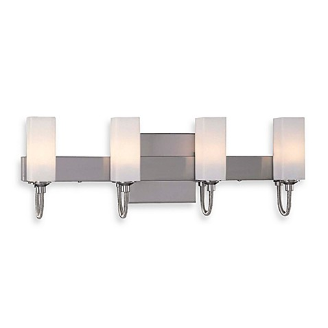 George Kovacs® Cased Etched Opal Glass Four Wall Sconce