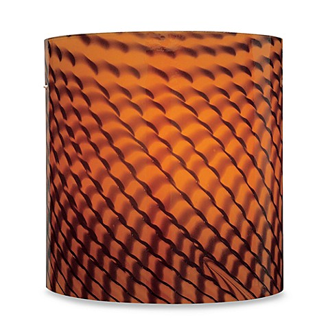 George Kovacs Amber Art Glass Wall Sconce