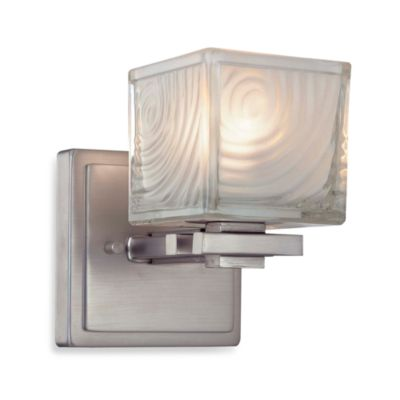George Kovacs Frosted Ripple Glass Wall Sconce