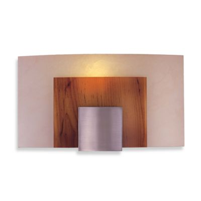 George Kovacs Brushed Nickel Art Glass Wall Sconce with a Brushed Nickel Finish