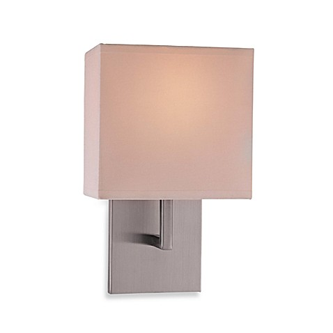 Buy George Kovacs Linen Wall Sconce With A Brushed Nickel Finish From Bed Ba