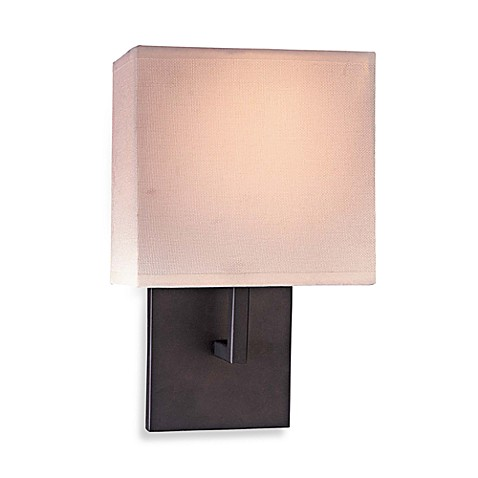 George Kovacs® Linen Wall Sconce with a Bronze Finish
