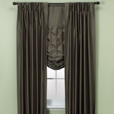 Paris Pinch-Pleated 84-Inch Window Curtain Panel in Cognac