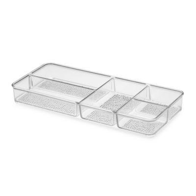 InterDesign® Rain Divided Cosmetic Organizer Tray