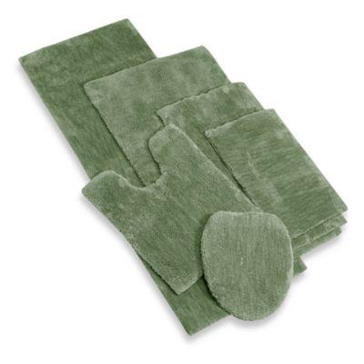 Sage bathroom rugs