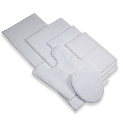 Suite Platinum 17-Inch x 24-Inch Bath Rug in White