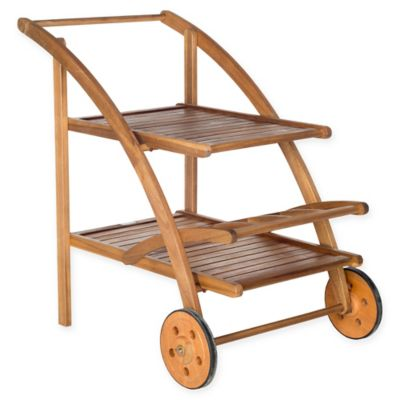 Safavieh Lodi Outdoor Tea Cart in Teak