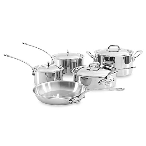 Mauviel 1830 M' Cook Stainless 9-Piece Cookware Set and Open Stock