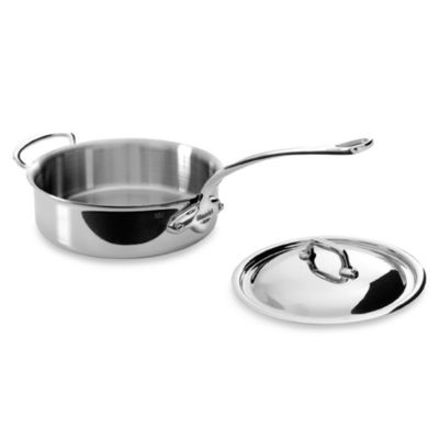 Mauviel 1830 M' Cook Stainless 5.8-Quart Saute Pan