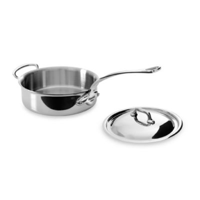 Mauviel 1830 M' Cook Stainless 3.4-Quart Saute Pan