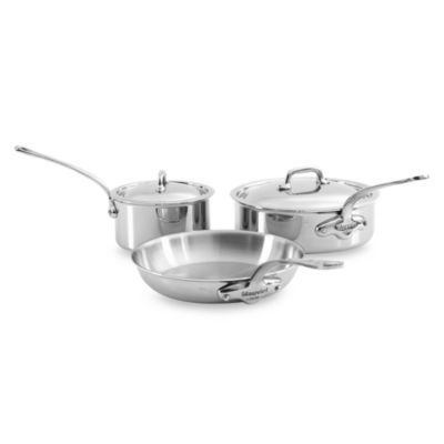 Mauviel 1830 M' Cook Stainless 5-Piece Cookware Set