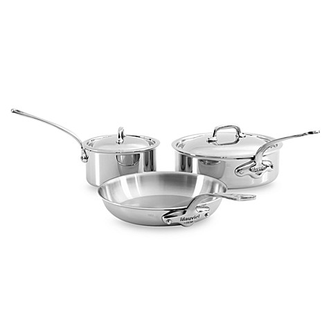 Mauviel M'cook Stainless 5-Piece Cookware Set