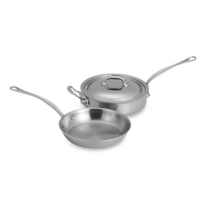 Mauviel 1830 M' Cook Stainless 3-Piece Cookware Set