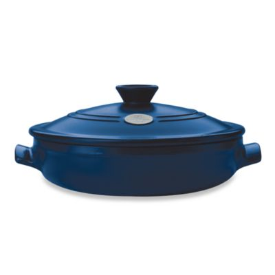 Emile Henry Flame® Top Covered 3.4-Quart Braiser in Azur