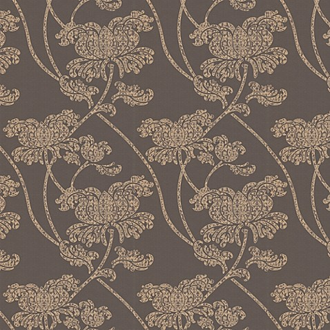 Graham & Brown Alice Brown and Gold Wallpaper