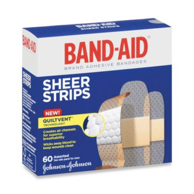 Band-Aid® Assorted Sheer Bandages (60 Count)