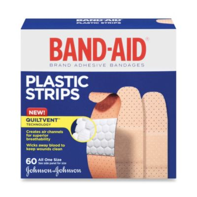 "Johnson's® Band-Aid® Plastic 3/4"" X 3"" Inch Bandages (60 Count)"