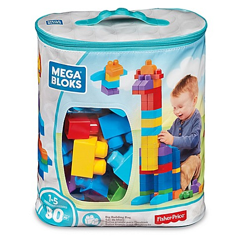 Mega Bloks Big Building Bag 80-Piece Building Set in Classic