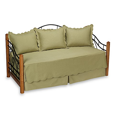 Matelasse Sage Daybed Bedding Set