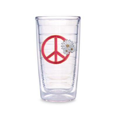 Tervis® Peace Sign with Daisies 16-Ounce Tumbler (Set of 4)