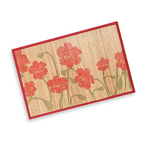 Bamboo Poppy Print Placemat