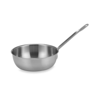 Sitram® Catering Stainless Steel 3-Quart Saucier Pan