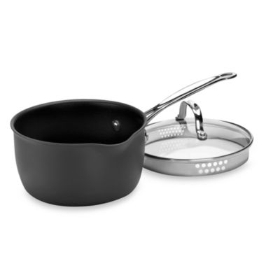 Cuisinart® Chef's Classic™ Non-Stick Hard Anodized 3-Quart Pour Saucepan with Lid