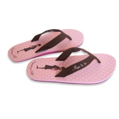 Bonnie Marcus Expecting in Style Size Large Flip Flops in Pink