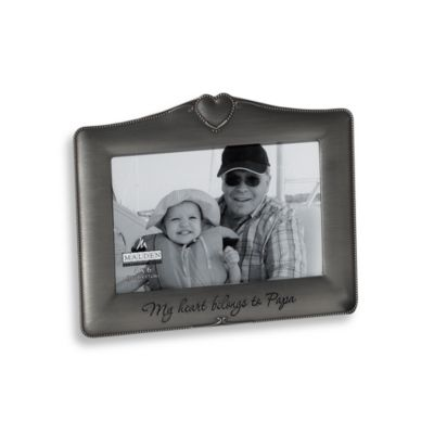 Malden® My Heart Belongs to Papa 4-Inch x 6-Inch Frame
