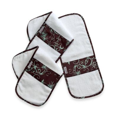 Bebe au Lait® Burp Cloths in Mint Chocolate (Set of 3)