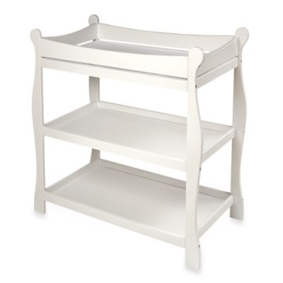Badger Basket Sleigh Changing Table in White