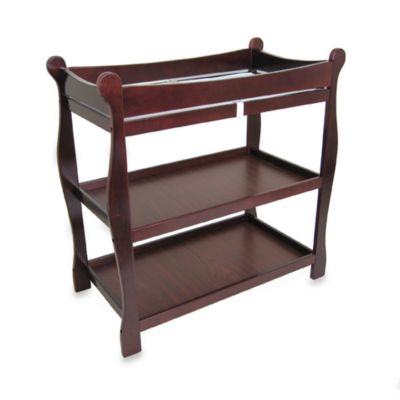 Badger Basket Sleigh Changing Table in Cherry