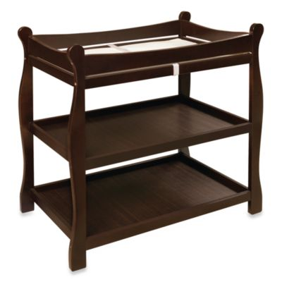 Badger Basket Sleigh Changing Table in Espresso