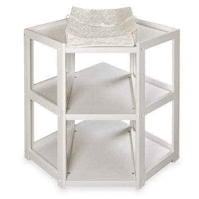 Badger Basket Corner Unit Changing Table in White