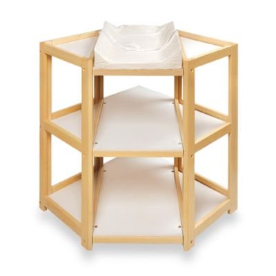 Badger Basket Corner Unit Changing Table in Natural