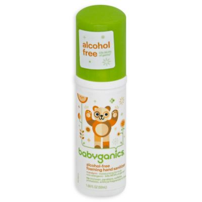 Cleaning > Babyganics® 1.69 oz. On-the-Go Alcohol-Free Foaming Hand Sanitizer in Mandarin