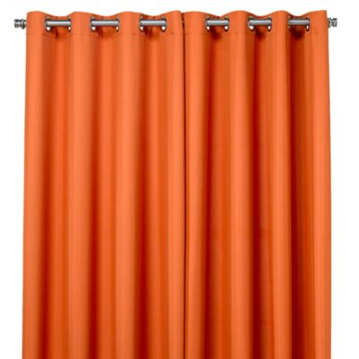 Commonwealth Home Fashions 84-Inch Gazebo Outdoor Curtain in Orange