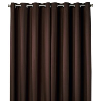 Commonwealth Home Fashions 84-Inch Gazebo Outdoor Curtain in Chocolate