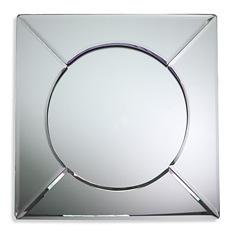 Square 13-Inch Mirror Charger Plate
