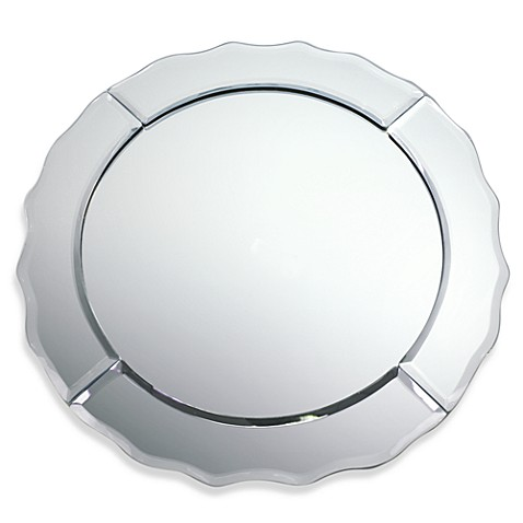 Round 13-Inch Mirror Charger Plate