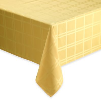 Origins™ Microfiber Tablecloth 60-Inch x 102-Inch Oblong Tablecloth in Yellow